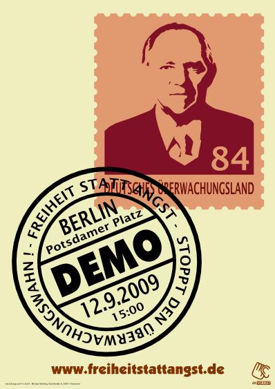 Aufruf zur Demo Freiheit statt Angst in Berlin